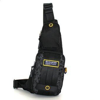 VOLUNTEER กระเป๋าคาดอก รุ่น 1513-24 - สีดำ