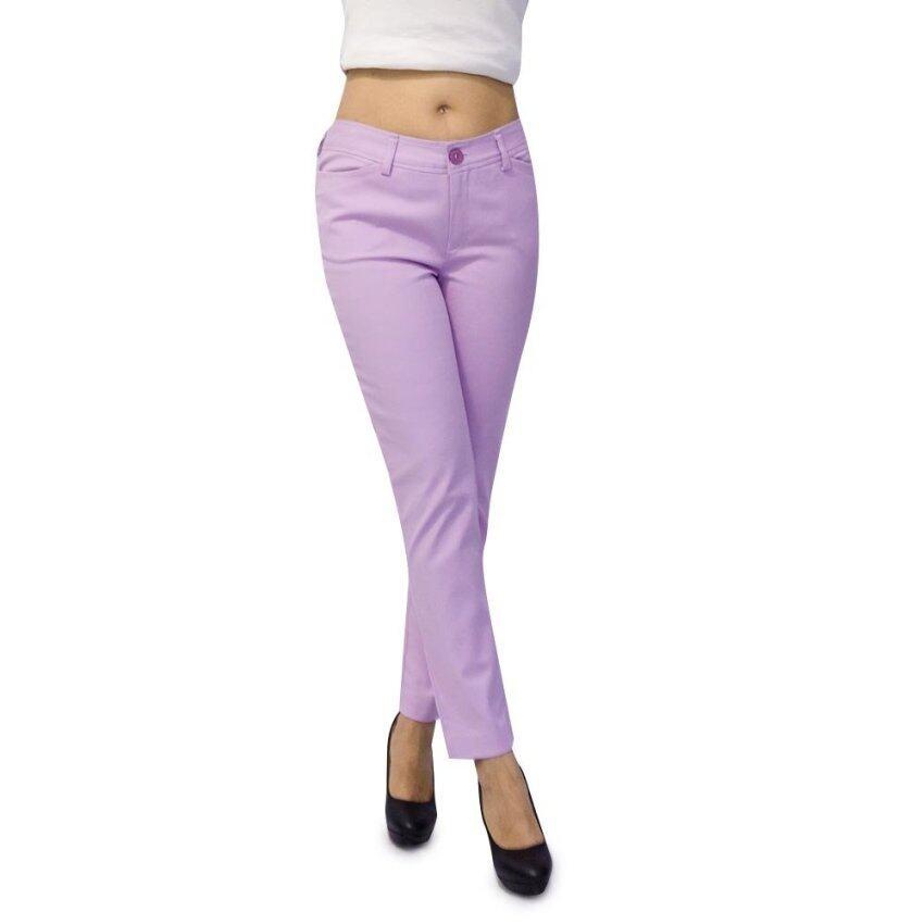 WAKE กางเกง 6 ส่วน สีม่วง