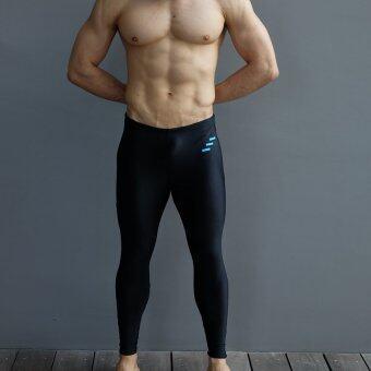 WANAKA กางเกงว่ายน้ำ ขายาว กัน UV 98% รุ่น WNK 50 (Black/Blue)