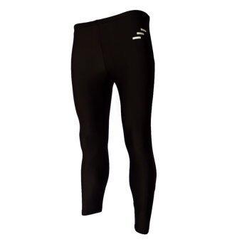 WANAKA กางเกงว่ายน้ำ ขายาว กัน UV 98% รุ่น WNK 50 (Black/Silver)