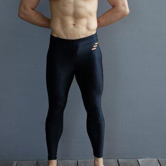 WANAKA กางเกงว่ายน้ำ ขายาว กัน UV 98% รุ่น WNK 50 (Black/Orange)