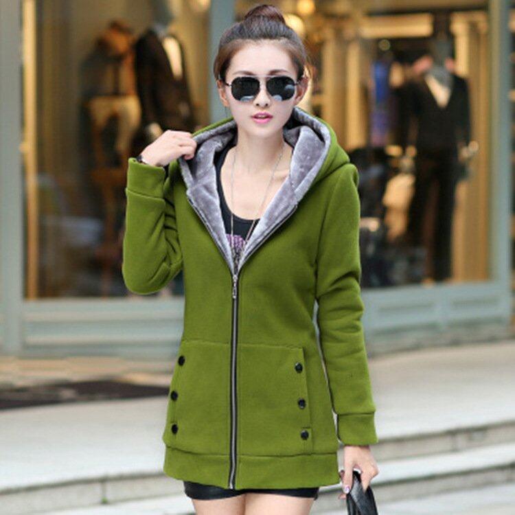Warm Women Winter Coats Female Thicker Long Jackets Lady Casual Hoodies Fleece Coats - intl