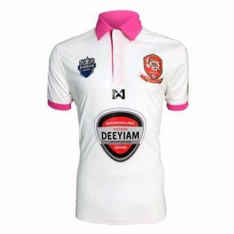 WARRIX SPORT เสื้อฟุตบอลสโมสรอุบลเอฟซี (แฟนคลับ) WA-16UBFC-51M (สีขาว - ชมพู )