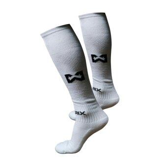 WARRIX SPORT ถุงเท้าฟุตบอลไนล่อน WC-1516-WW ( สีขาว)