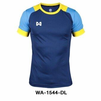 WARRIX เสื้อ WA-1544-DL (สีกรม-ฟ้า)