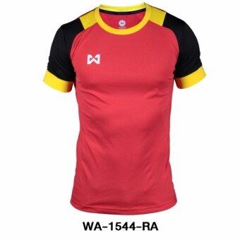 WARRIX เสื้อ WA-1544-RA (สีเเดง-ดำ)