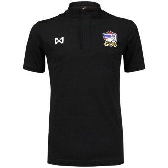 WARRIX เสื้อโปโลคอจีน WA-3309FTM2-BB (สีดำ)