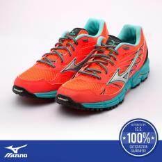 Wave Daichi (รองเท้าวิ่งผู้หญิง มิซูโน่ เวฟ ไดจิ) สีส้ม/ฟ้า