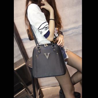 Wichu Bag กระเป๋าสะพายหลัง ผู้หญิง กระเป๋าแฟชั่น กระเป๋าเป้เกาหลีรุ่น LP-034 (สีดำ) - 4