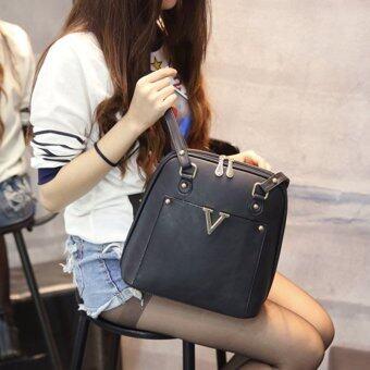 Wichu Bag กระเป๋าสะพายหลัง ผู้หญิง กระเป๋าแฟชั่น กระเป๋าเป้เกาหลีรุ่น LP-034 (สีดำ) - 2