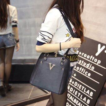 Wichu Bag กระเป๋าสะพายหลัง ผู้หญิง กระเป๋าแฟชั่น กระเป๋าเป้เกาหลีรุ่น LP-034 (สีดำ) - 3