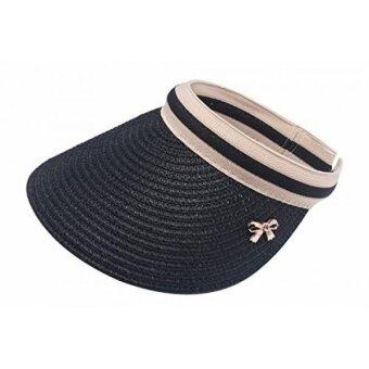 Women Summer Shade Cap Straw Empty Top Summer Sunscreen Sun Hat Beach Hats Sun Visor Caps - intl