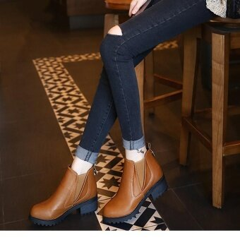 Women Winter Ankle Boots Low Heels Fashion Boots Autumn WinterBoots Shoes BW/35 - intl
