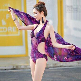 Womens Swimsuit Swimwear Two-Piece Siamese Graphic Bikini Sets -intl - 3