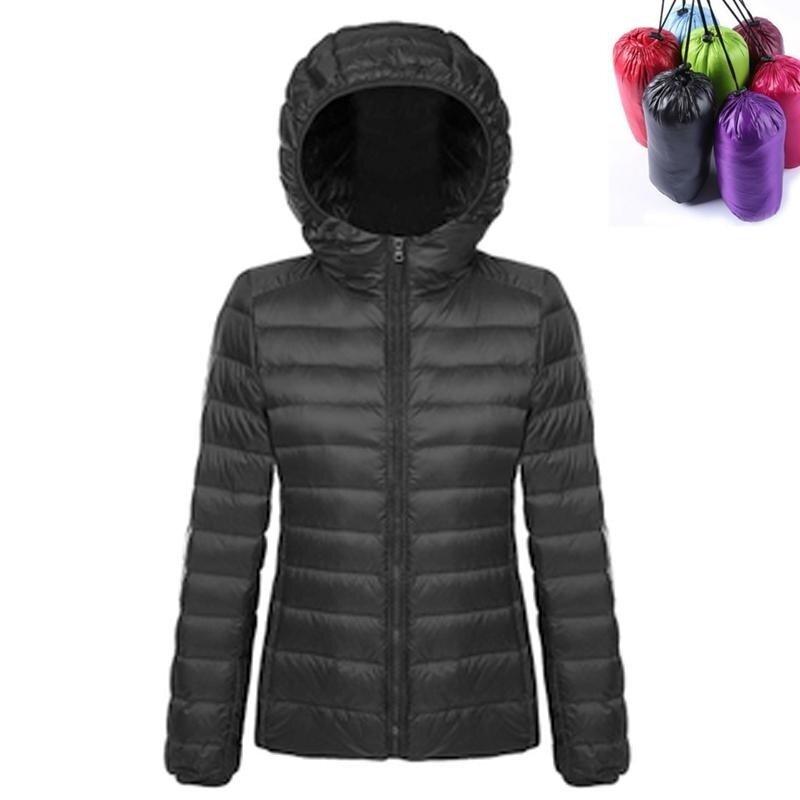 Womens Winter Packable Ultra Light Hooded Down Jacket Lightweight Waterproof Ladies Down Puffer Jacket Coat Parka (Orchid Grey) - intl