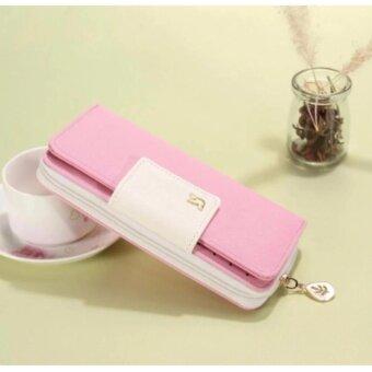 wonderful story มาใหม่กระเป๋าสตางค์แบรนด์คุณภาพสูงกระเป๋าสตรีผู้หญิง (สีชมพู)