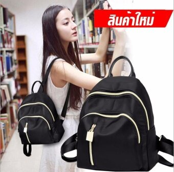 Wonderful story กระเป๋า กระเป๋าเป้ กระเป๋าสะพายหลัง Backpack No.B01 - BLACK