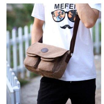 wonderful story กระเป๋าสะพายข้าง กระเป๋าสะพายไหล่ Shoulder Bag Cross Body Bag - Brown/สีน้ำตาล