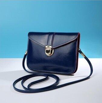 Wonderful Story กระเป๋าสะพายข้าง กระเป๋าเป้ผ้าไนลอน รุ่น T22-(Blue)
