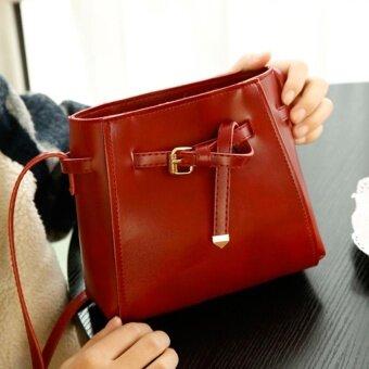 Wonderful story กระเป๋าสะพายข้าง กระเป๋าเป้ผ้าไนลอน รุ่น TJ03-(Red)