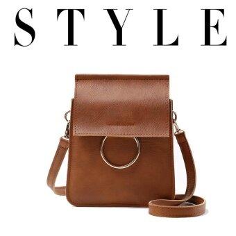 Wonderful story กระเป๋าสะพายข้าง กระเป๋าเป้ผ้าไนลอน รุ่น TJ04 -(Brown)