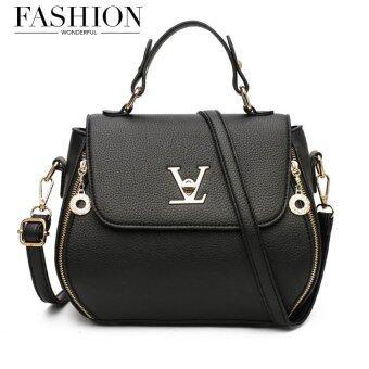 Wonderful story กระเป๋าสะพายข้าง กระเป๋าเป้ผ้าไนลอน V3-(Black)
