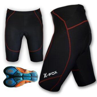 X Foxกางเกงปั่นจักรยาน ขาสั้น 3ส่วน เป้าเจล หนานุ่มพิเศษ 8D