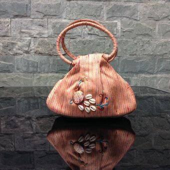 Xinshishang เย็บปักถักร้อยลมแห่งชาติเดิมนางสาวกระเป๋าถือ (สีส้ม) (สีส้ม)
