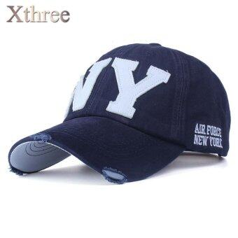 [Xthree] unisex fashion cotton baseball cap snapback hat for men women sun hat bone gorras ny embroidery spring cap wholesale - intl