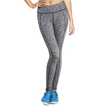 ราคา Yoga Flair กางเกงสปอร์ตเลคกิ้ง สีเทา แถบลายเส้นข้างสีดำ