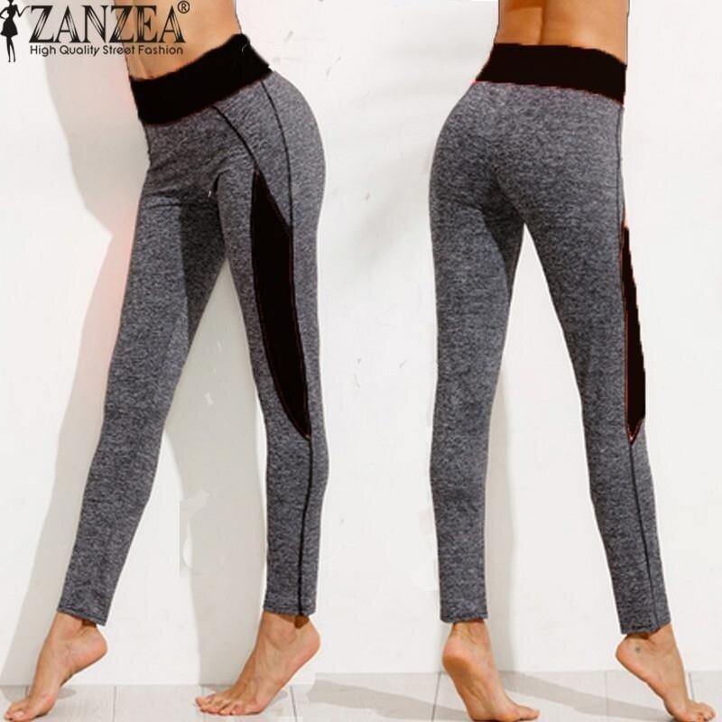 ZANZEA High Waist Women Lady Activewear Legging Winter Slim Skinny Elastic Running Pant Leggings Workout Trousers (Black) - intl