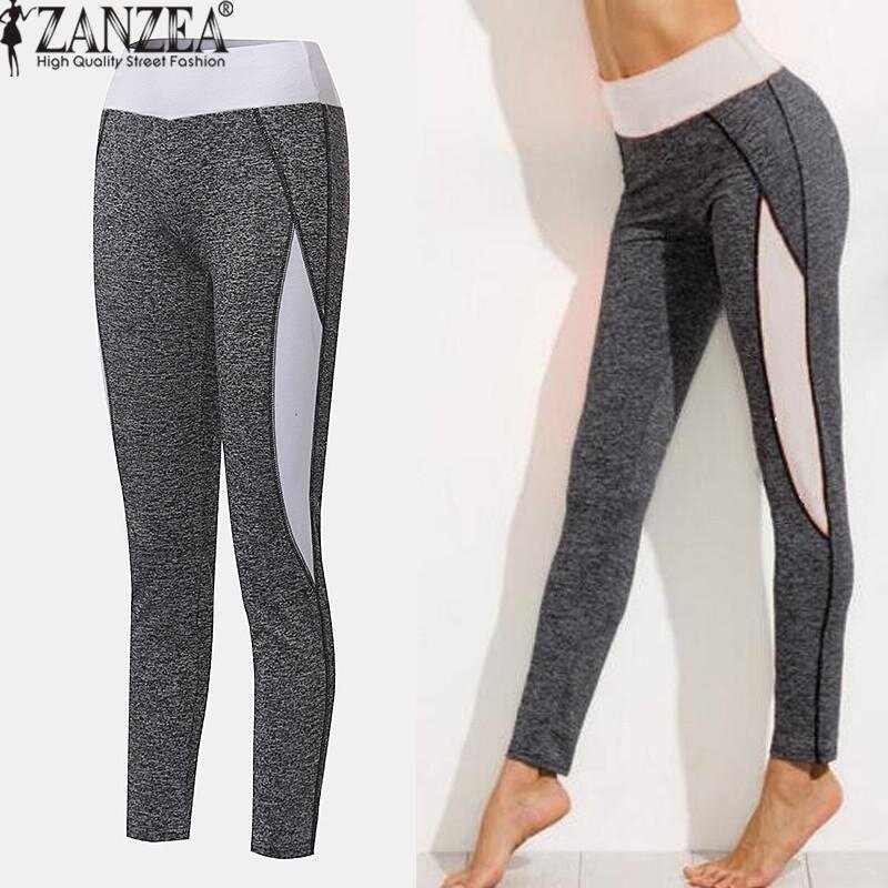 ZANZEA High Waist Women Lady Activewear Legging Winter Slim Skinny Elastic Running Pant Leggings Workout Trousers (White) - intl