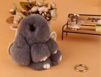 Zhuangsitu เร็กซ์ขนกระต่ายกระต่ายขนาดเล็กจี้ (สีเทาอ่อน 13-15 cm)