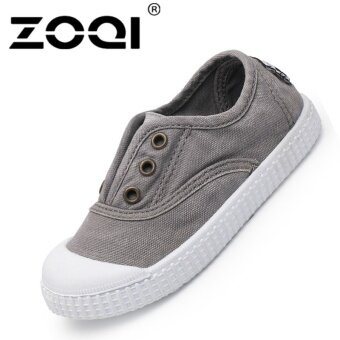 ZOQI Boy's And Girl's Casual Shoes Fashion Baby Canvas Shoes(Grey)\n- intl