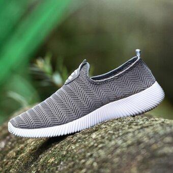 ZOQI Men's And Women's Fashion Light Mesh Breathable Casual ShoesSneaker (Grey) - intl - 5
