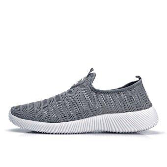 ZOQI Men's And Women's Fashion Light Mesh Breathable Casual ShoesSneaker (Grey) - intl - 4
