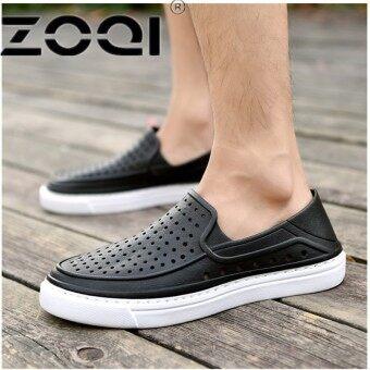 ZOQI Slip On Garden Shoes Lightweight Beach Sandals For Men Casual Water Slippers Men Shoes(Black) - intl
