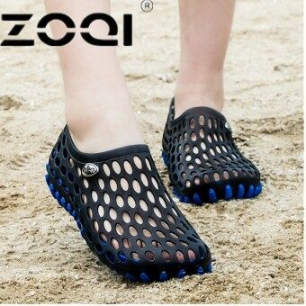 ZOQI Women And Men Casual Clogs Breathable Sandals Home Valentine Slippers Summer Slip On Women Flip Flop Shoes