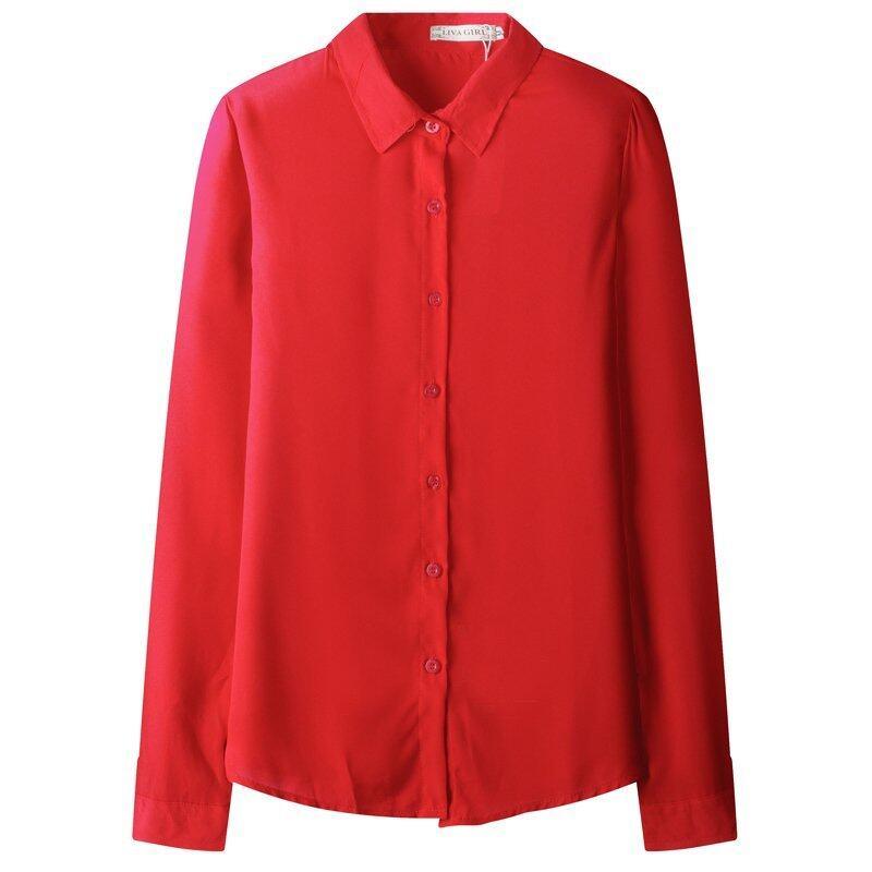 ZUNCLE Chiffon Long-sleeved Shirt Sunscreen(Red) - intl