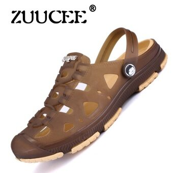 ZUUCEE Casual Men Sandals Fashion Plastic Sandals Summer BeachShoes Water Shoes Slippers(brown) - intl