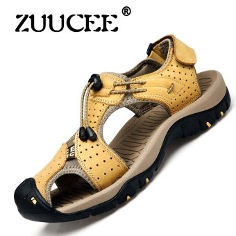 ZUUCEE New Summer Shoes Men Leather Sandals Men Outdoor CasualSandals(brown) - intl
