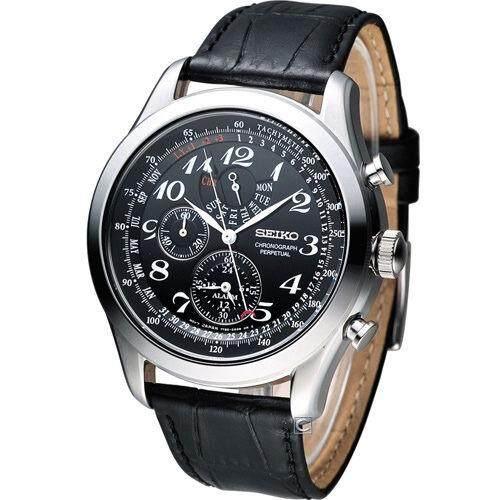 ราชบุรี Karnvera Shop Seiko นาฬิกาข้อมือผู้ชาย Chronograph Perpetual SPC133P1
