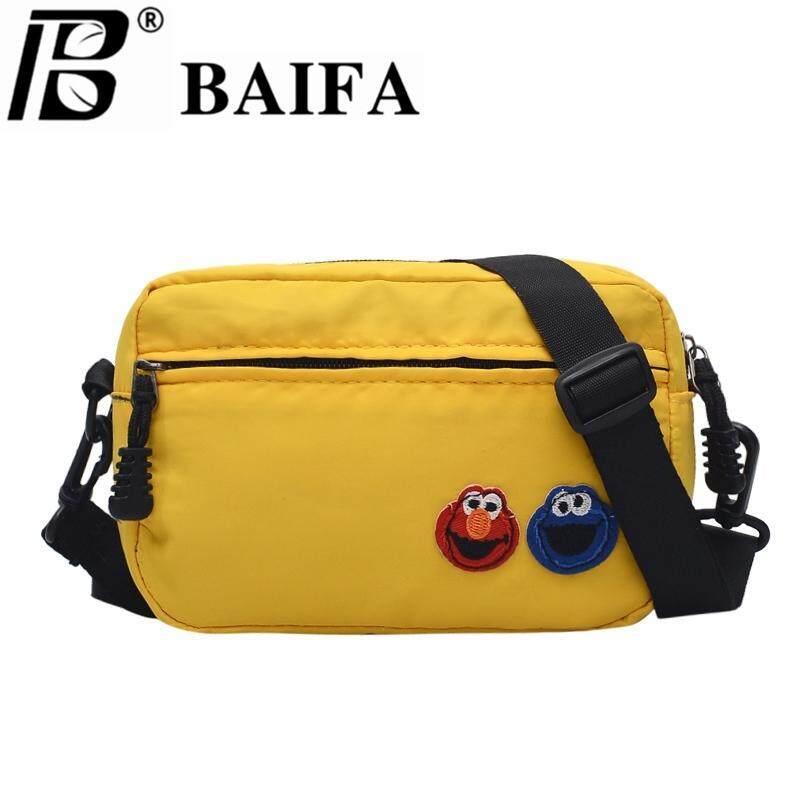 กระเป๋าสะพายพาดลำตัว นักเรียน ผู้หญิง วัยรุ่น พะเยา BAIFA SHOP กระเป๋าสะพายข้างElmoผ้าไนล่อนทรงแนวนอน B91  กระเป๋าสะพายข้างผ้าไนล่อน ใส่โทรศัพพ์ได้ถึง IPHONE8