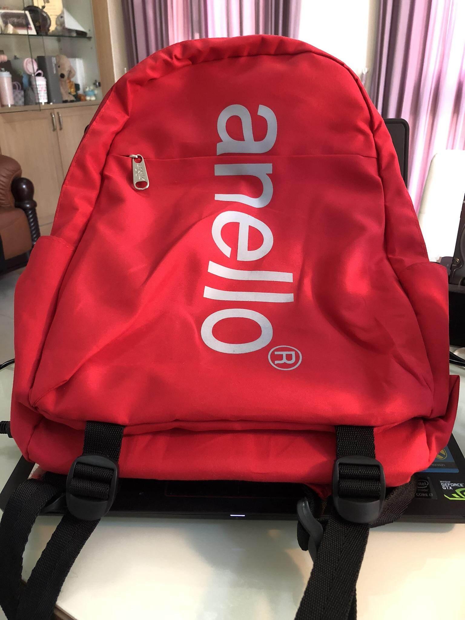บัตรเครดิต ธนชาต  พิจิตร กระเป๋าเป้ Anello สีแดง ของแท้