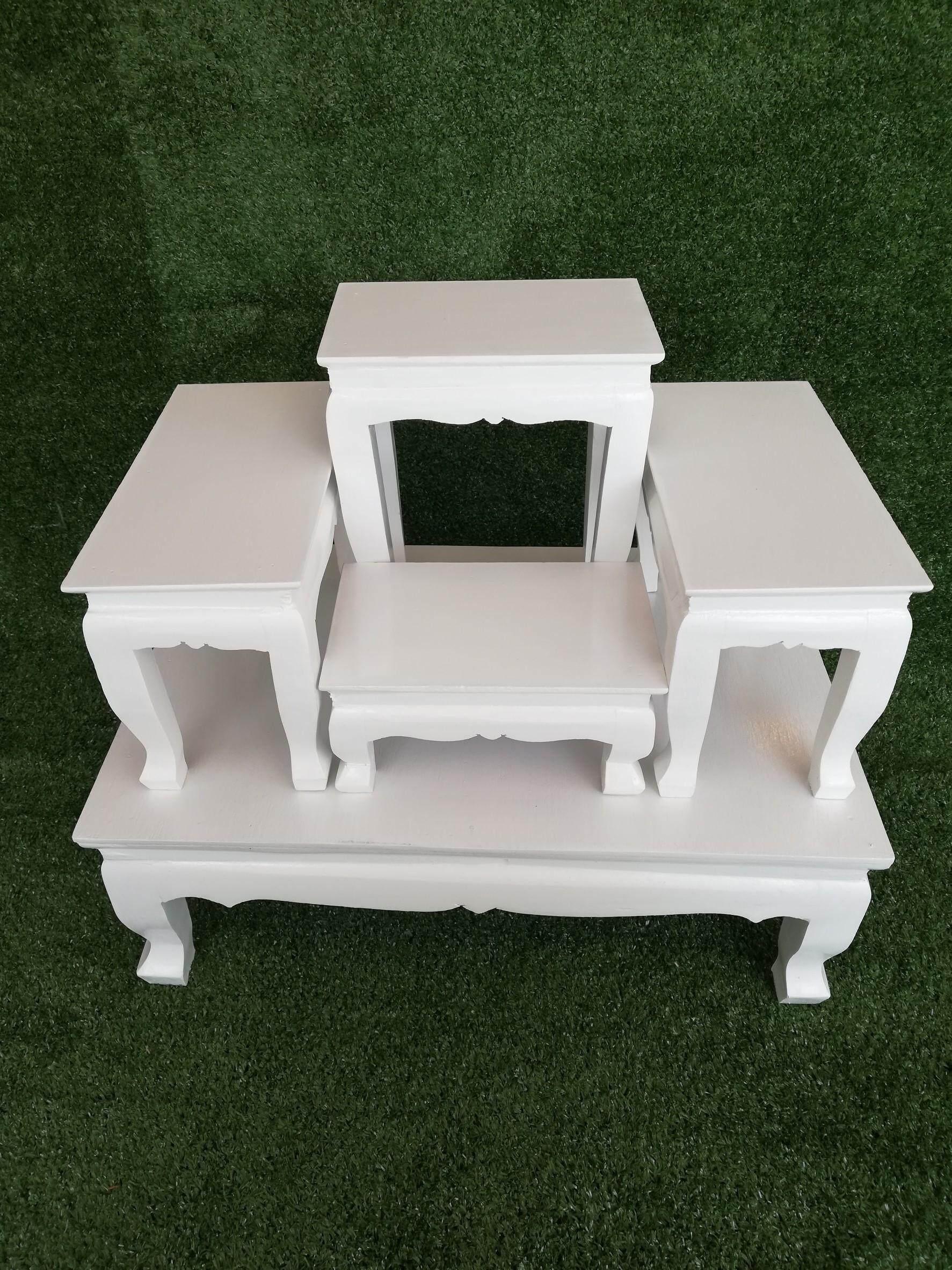 ลดสุดๆ โต๊ะหมู่บูชา หมู่ 4 หน้า 5 สีขาว ส่งฟรี!! KERRY