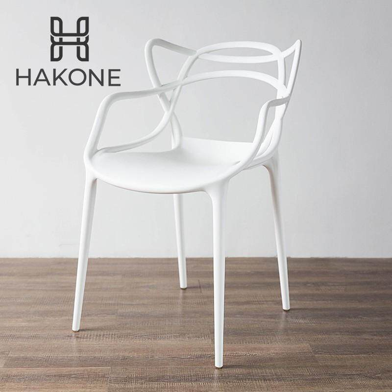เช่าเก้าอี้ เชียงใหม่ [2 สี] HAKONE เก้าอี้พลาสติก เก้าอี้กินข้าว รับน้ำหนักได้สูงสุด 100 kg (ขาว  ดำ) DC20 สไตล์โมเดิร์น ดีไซน์เรียนหรู ทันสมัย เก้าอี้นั่งเล่น เก้าอี้ทำงาน เก้าอี้จัดบูธ เก้าอี้ออกงาน เก้าอี้สำนักงาน เก้าอี้ Kartell Masters Plastic Modern Dining Chair HomeHuk