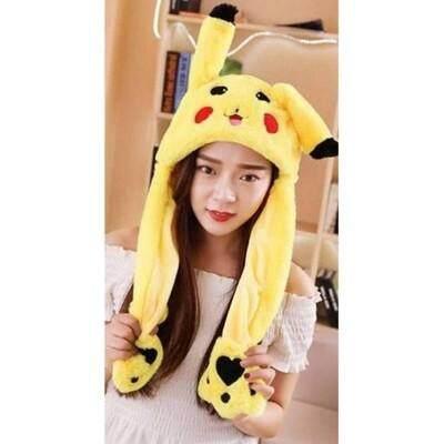 ลดสุดๆ ส่งฟรี Kerry !!! ขาย หมวกขน หูกระติก / หมวกหูกระดิก ลาย ปีกาจู pikachu