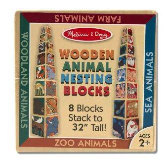 Melissa and Doug Animal Nesting Blocks - บล๊อคไม้จัมโบ้รูปสัตว์
