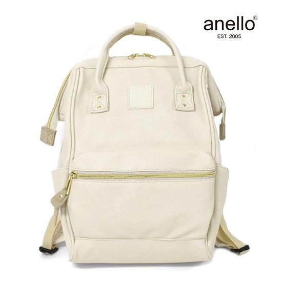 การใช้งาน  หนองคาย Anello PU Leather สีขาวนวล ของแท้ กระเป๋าเป้สะพายหลังรุ่นหนังนิ่ม ไซส์มินิ กว้าง 23x สูง 36x หนา17cm