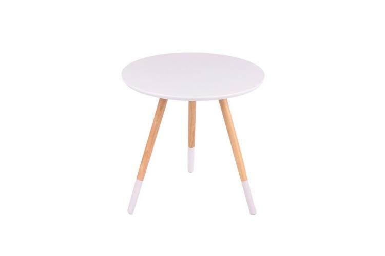 โต๊ะกลาง โซฟา ห้องรับแขก COFFEE TABLE ROUND WHITE โต๊ะกลาง กลม VICENZO 24046-W ขาว ส่ง kerry เก็บเงินปลายทาง